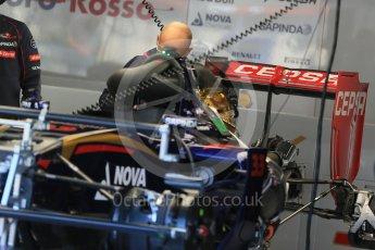World © Octane Photographic Ltd. Scuderia Toro Rosso STR10. Thursday 20th August 2015, F1 Belgian GP Pitlane, Spa-Francorchamps, Belgium. Digital Ref: 1370LB1D6986