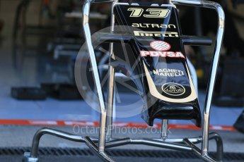 World © Octane Photographic Ltd. Lotus F1 Team E23 Hybrid – Pastor Maldonado. Thursday 20th August 2015, F1 Belgian GP Pitlane, Spa-Francorchamps, Belgium. Digital Ref: 1370LB1D7036
