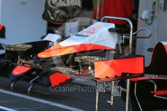 World © Octane Photographic Ltd. Manor Marussia F1 Team MR03B. Thursday 20th August 2015, F1 Belgian GP Pitlane, Spa-Francorchamps, Belgium. Digital Ref: 1370LB1D7058
