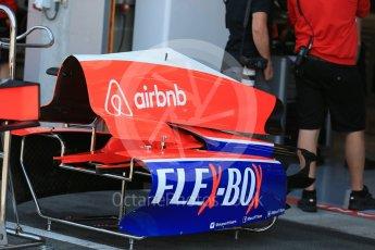 World © Octane Photographic Ltd. Manor Marussia F1 Team MR03B. Thursday 20th August 2015, F1 Belgian GP Pitlane, Spa-Francorchamps, Belgium. Digital Ref: 1370LB1D7061