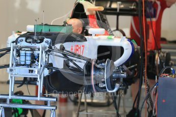 World © Octane Photographic Ltd. Manor Marussia F1 Team MR03B. Thursday 20th August 2015, F1 Belgian GP Pitlane, Spa-Francorchamps, Belgium. Digital Ref: 1370LB1D7067