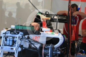 World © Octane Photographic Ltd. Manor Marussia F1 Team MR03B. Thursday 20th August 2015, F1 Belgian GP Pitlane, Spa-Francorchamps, Belgium. Digital Ref: 1370LB1D7073