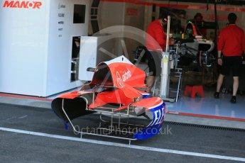 World © Octane Photographic Ltd. Manor Marussia F1 Team MR03B. Thursday 20th August 2015, F1 Belgian GP Pitlane, Spa-Francorchamps, Belgium. Digital Ref: 1370LB1D7081