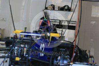 World © Octane Photographic Ltd. Sauber F1 Team C34-Ferrari – Felipe Nasr. Thursday 20th August 2015, F1 Belgian GP Pitlane, Spa-Francorchamps, Belgium. Digital Ref: 1370LB1D7104