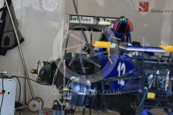 World © Octane Photographic Ltd. Sauber F1 Team C34-Ferrari – Felipe Nasr. Thursday 20th August 2015, F1 Belgian GP Pitlane, Spa-Francorchamps, Belgium. Digital Ref: 1370LB1D7117