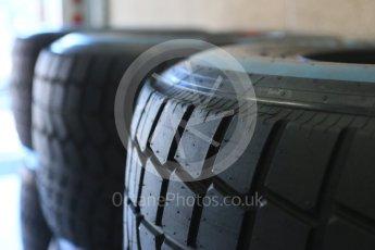 World © Octane Photographic Ltd. Pirelli wet (blue) tyres. Thursday 20th August 2015, F1 Belgian GP Pitlane, Spa-Francorchamps, Belgium. Digital Ref: 1370LB5D6258