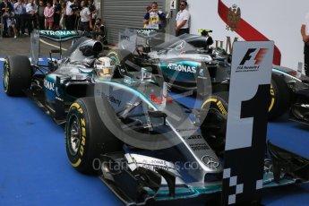 World © Octane Photographic Ltd. Mercedes AMG Petronas F1 W06 Hybrid – Lewis Hamilton. Sunday 23rd August 2015, F1 Belgian GP Parc Ferme, Spa-Francorchamps, Belgium. Digital Ref: 1390LB5D0077