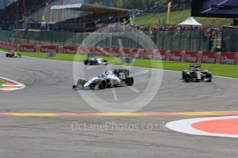 World © Octane Photographic Ltd. Williams Martini Racing FW37 – Valtteri Bottas. Sunday 23rd August 2015, F1 Belgian GP Race, Spa-Francorchamps, Belgium. Digital Ref: 1389LB5D0063