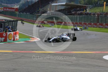 World © Octane Photographic Ltd. Williams Martini Racing FW37 – Valtteri Bottas. Sunday 23rd August 2015, F1 Belgian GP Race, Spa-Francorchamps, Belgium. Digital Ref: 1389LB5D0064