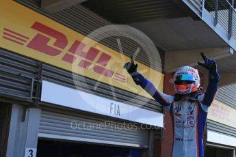 World © Octane Photographic Ltd. Sunday 23rd August 2015. Trident – Luca Ghiotto. GP3 Race 2 Parc Ferme – Spa-Francorchamps, Belgium. Digital Ref. : 1385LB5D9734