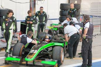 World © Octane Photographic Ltd. Friday 3rd July 2015. Status Grand Prix – Richie Stanaway. GP2 Practice – Silverstone, UK. Digital Ref. : 1329JM1D3871
