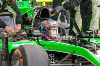 World © Octane Photographic Ltd. Friday 3rd July 2015. Status Grand Prix – Richie Stanaway. GP2 Practice – Silverstone, UK. Digital Ref. : 1329JM1D3902
