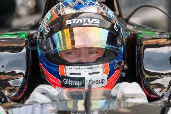 World © Octane Photographic Ltd. Friday 3rd July 2015. Status Grand Prix – Richie Stanaway. GP2 Practice – Silverstone, UK. Digital Ref. : 1329JM1D3906