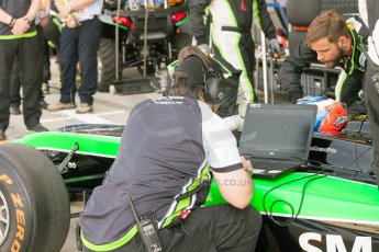 World © Octane Photographic Ltd. Friday 3rd July 2015. Status Grand Prix – Richie Stanaway. GP2 Practice – Silverstone, UK. Digital Ref. : 1329JM1D3909
