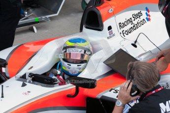 World © Octane Photographic Ltd. Friday 3rd July 2015. MP Motorsport – Oliver Rowland. GP2 Practice – Silverstone, UK. Digital Ref. : 1329JM1D3923