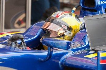 World © Octane Photographic Ltd. Friday 3rd July 2015. Carlin – Johnny Cecotto. GP2 Practice – Silverstone, UK. Digital Ref. : 1329JM1D3941