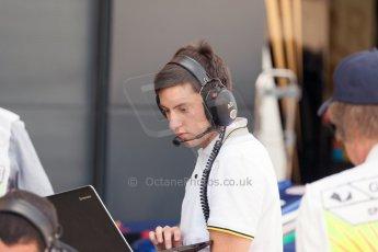 World © Octane Photographic Ltd. Friday 3rd July 2015. DAMS pit setup. GP2 Practice – Silverstone, UK. Digital Ref. : 1329JM1D4003
