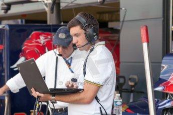World © Octane Photographic Ltd. Friday 3rd July 2015. DAMS pit setup. GP2 Practice – Silverstone, UK. Digital Ref. : 1329JM1D4011
