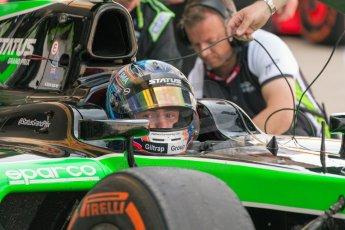 World © Octane Photographic Ltd. Friday 3rd July 2015. Status Grand Prix – Richie Stanaway. GP2 Practice – Silverstone, UK. Digital Ref. : 1329JM1D4056