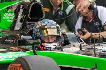 World © Octane Photographic Ltd. Friday 3rd July 2015. Status Grand Prix – Richie Stanaway. GP2 Practice – Silverstone, UK. Digital Ref. : 1329JM1D4057