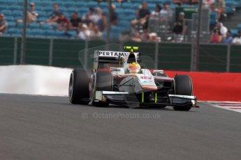 World © Octane Photographic Ltd. Friday 3rd July 2015. Campos Racing – Rio Haryanto. GP2 Qualifying – Silverstone, UK. Digital Ref. : 1330JM1D3838
