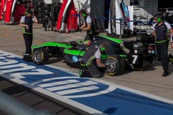 World © Octane Photographic Ltd. Thursday 2nd July 2015. Status Grand Prix – Seb Morris. GP3 Paddock – Silverstone, UK. Digital Ref. : 1331JM1D3850