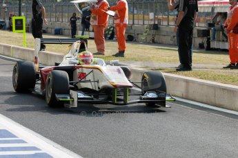 World © Octane Photographic Ltd. Thursday 2nd July 2015. Campos Racing – Alex Palou. GP3 Paddock – Silverstone, UK. Digital Ref. : 1331JM1D4111
