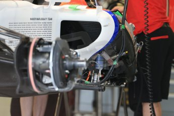 World © Octane Photographic Ltd. Manor Marussia F1 Team MR03B. Thursday 2nd July 2015, F1 British GP Pit Lane, Silverstone, UK. Digital Ref: 1324LB1D2738