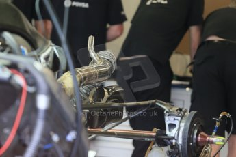 World © Octane Photographic Ltd. Lotus F1 Team E23 Hybrid. Thursday 2nd July 2015, F1 British GP Pit Lane, Silverstone, UK. Digital Ref: 1324LB1D2912