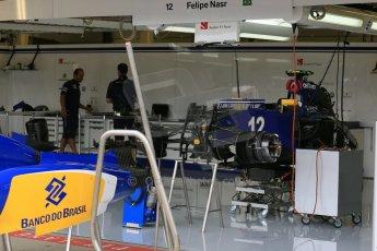 World © Octane Photographic Ltd. Sauber F1 Team C34-Ferrari – Felipe Nasr. Thursday 2nd July 2015, F1 British GP Pit Lane Silverstone, UK. Digital Ref: 1324LB5D8382