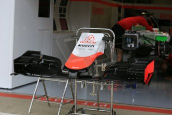 World © Octane Photographic Ltd. Manor Marussia F1 Team MR03B. Thursday 2nd July 2015, F1 British GP Pit Lane, Silverstone, UK. Digital Ref: 1324LB5D8413