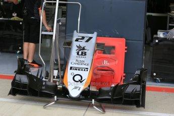 World © Octane Photographic Ltd. Sahara Force India VJM08 – Nico Hulkenberg. Thursday 2nd July 2015, F1 British GP Pit Lane, Silverstone, UK. Digital Ref: 1324LB5D8416
