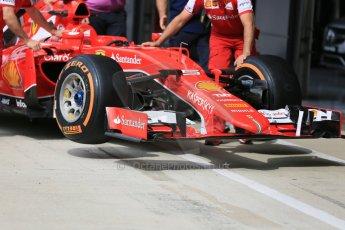 World © Octane Photographic Ltd. Scuderia Ferrari SF15-T. Thursday 2nd July 2015, F1 British GP Paddock, Silverstone, UK. Digital Ref: 1324LB5D8588