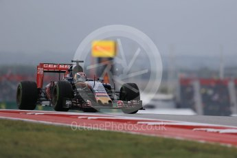 World © Octane Photographic Ltd. Scuderia Toro Rosso STR10 – Max Verstappen. Friday 23rd October 2015, F1 USA Grand Prix Practice 1, Austin, Texas - Circuit of the Americas (COTA). Digital Ref: 1460LB1D9335