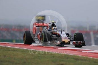 World © Octane Photographic Ltd. Scuderia Toro Rosso STR10 – Carlos Sainz Jnr. Friday 23rd October 2015, F1 USA Grand Prix Practice 1, Austin, Texas - Circuit of the Americas (COTA). Digital Ref: 1460LB1D9364