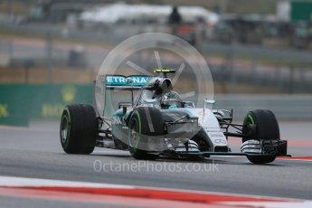World © Octane Photographic Ltd. Mercedes AMG Petronas F1 W06 Hybrid – Nico Rosberg. Friday 23rd October 2015, F1 USA Grand Prix Practice 1, Austin, Texas - Circuit of the Americas (COTA). Digital Ref: 1460LB1D9394
