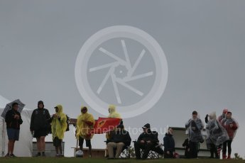 World © Octane Photographic Ltd. Formula 1 fans brave the wet weather conditions at COTA. Sunday 25th October 2015, F1 USA Grand Prix Qualifying, Austin, Texas - Circuit of the Americas (COTA). Digital Ref: 1464LB1D0670