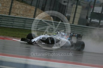 World © Octane Photographic Ltd. Williams Martini Racing FW37 – Felipe Massa. Sunday 25th October 2015, F1 USA Grand Prix Qualifying, Austin, Texas - Circuit of the Americas (COTA). Digital Ref: 1464LB1D0850