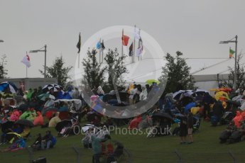 World © Octane Photographic Ltd. Formula 1 fans brave the wet weather conditions at COTA. Sunday 25th October 2015, F1 USA Grand Prix Qualifying, Austin, Texas - Circuit of the Americas (COTA). Digital Ref: 1464LB1D1023