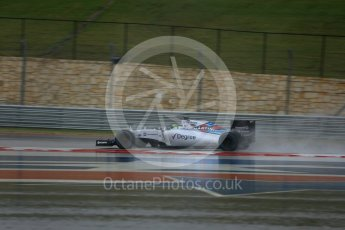 World © Octane Photographic Ltd. Williams Martini Racing FW37 – Felipe Massa. Sunday 25th October 2015, F1 USA Grand Prix Qualifying, Austin, Texas - Circuit of the Americas (COTA). Digital Ref: 1464LB5D3295