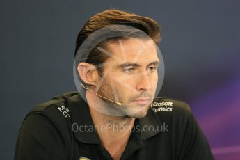 World © Octane Photographic Ltd. FIA Team Personnel Press Conference. Friday 23rd October 2015, F1 USA Grand Prix, Austin, Texas - Circuit of the Americas (COTA). Lotus F1 Team CEO – Matthew Carter. Digital Ref: 1462LB1D9672