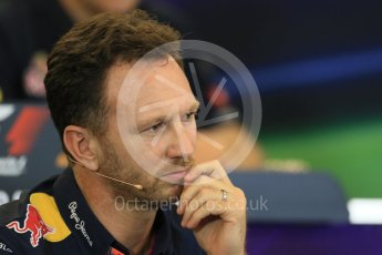 World © Octane Photographic Ltd. FIA Team Personnel Press Conference. Friday 23rd October 2015, F1 USA Grand Prix, Austin, Texas - Circuit of the Americas (COTA). Infiniti Red Bull Racing Team Principal – Christian Horner. Digital Ref: 1462LB1D9742