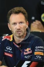 World © Octane Photographic Ltd. FIA Team Personnel Press Conference. Friday 23rd October 2015, F1 USA Grand Prix, Austin, Texas - Circuit of the Americas (COTA). Infiniti Red Bull Racing Team Principal – Christian Horner. Digital Ref: 1462LB1D9812