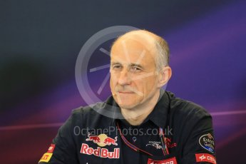 World © Octane Photographic Ltd. FIA Team Personnel Press Conference. Friday 23rd October 2015, F1 USA Grand Prix, Austin, Texas - Circuit of the Americas (COTA). Scuderia Toro Rosso – Franz Tost. Digital Ref: 1462LB1D9818