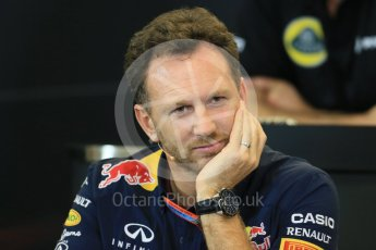 World © Octane Photographic Ltd. FIA Team Personnel Press Conference. Friday 23rd October 2015, F1 USA Grand Prix, Austin, Texas - Circuit of the Americas (COTA). Infiniti Red Bull Racing Team Principal – Christian Horner. Digital Ref: 1462LB1D9850