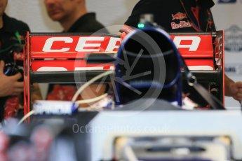 World © Octane Photographic Ltd. Scuderia Toro Rosso STR10. Wednesday 21st October 2015, F1 USA Grand Prix Set Up, Austin, Texas - Circuit of the Americas (COTA). Digital Ref: 1457LB1D8366