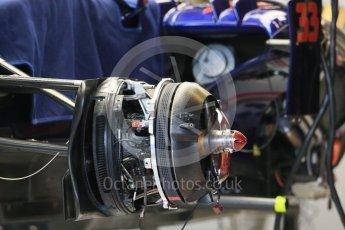World © Octane Photographic Ltd. Scuderia Toro Rosso STR10. Wednesday 21st October 2015, F1 USA Grand Prix Set Up, Austin, Texas - Circuit of the Americas (COTA). Digital Ref: 1457LB1D8382