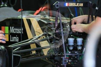 World © Octane Photographic Ltd. Lotus F1 Team E23 Hybrid. Wednesday 21st October 2015, F1 USA Grand Prix Set Up, Austin, Texas - Circuit of the Americas (COTA). Digital Ref: 1457LB1D8402