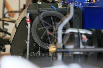 World © Octane Photographic Ltd. Sauber F1 Team C34-Ferrari. Wednesday 21st October 2015, F1 USA Grand Prix Set Up, Austin, Texas - Circuit of the Americas (COTA). Digital Ref: 1457LB1D8481