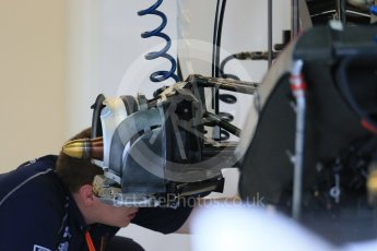 World © Octane Photographic Ltd. Sauber F1 Team C34-Ferrari. Wednesday 21st October 2015, F1 USA Grand Prix Set Up, Austin, Texas - Circuit of the Americas (COTA). Digital Ref: 1457LB1D8483
